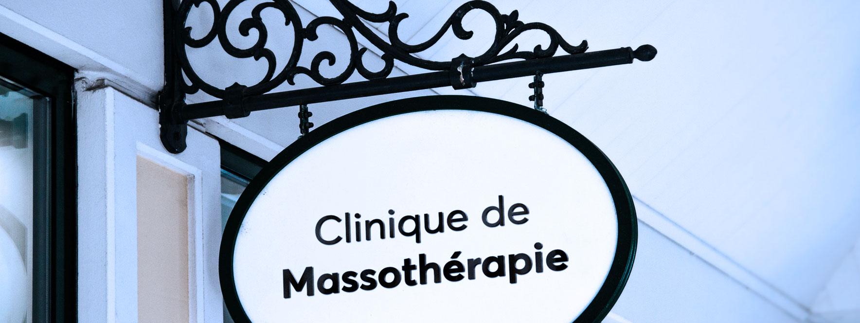 Enseigne de clinique de massothérapie