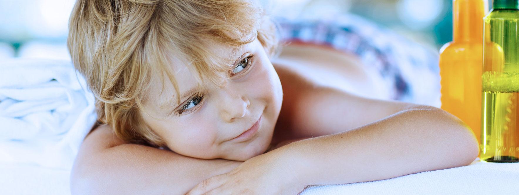 Massage enfant, amélioration du sommeil