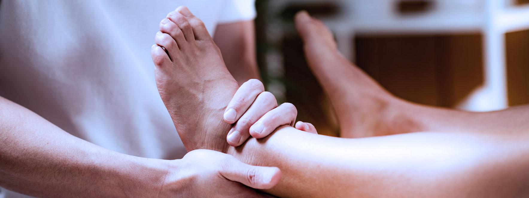 Massage de la cheville - Blogue du Réseau