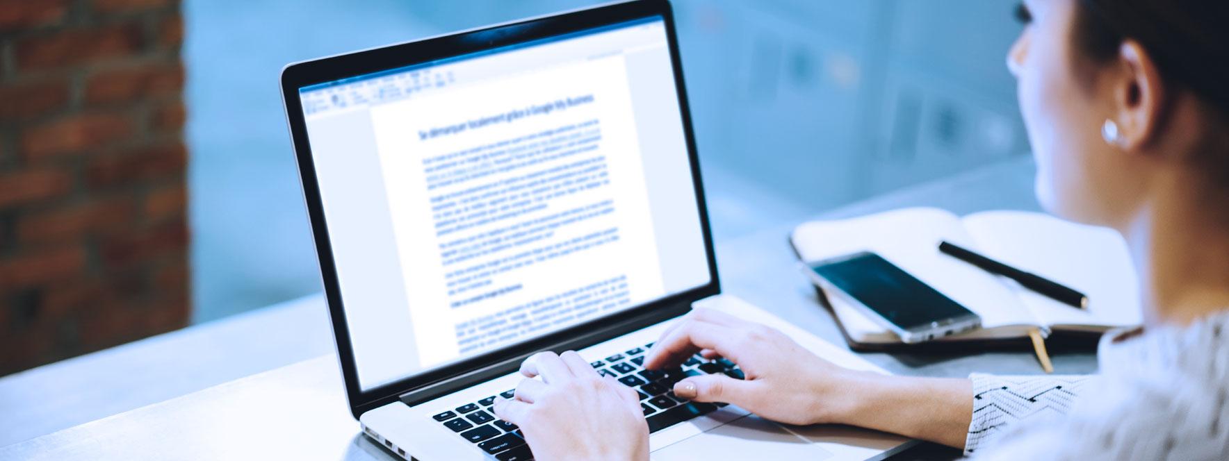 Écriture texte contenu portable - Blogue du Réseau