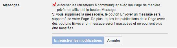 Message instantané Facebook - Blogue du Réseau