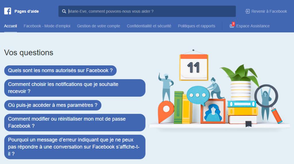 Comprendre et Aide Facebook Blogue du Réseau