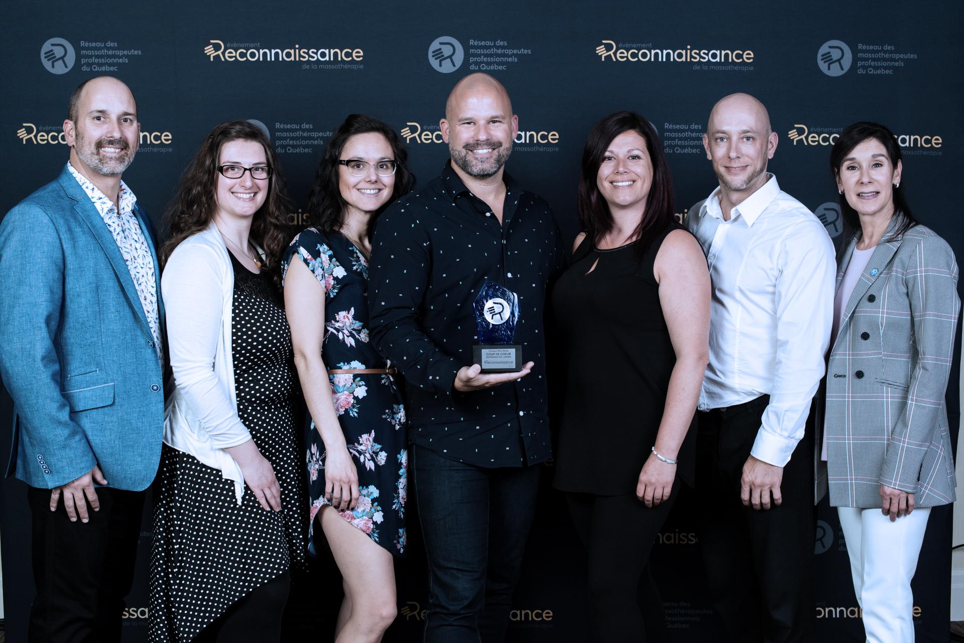 Clinique Myo-Santé Évènement reconnaissance de la massothérapie 2019