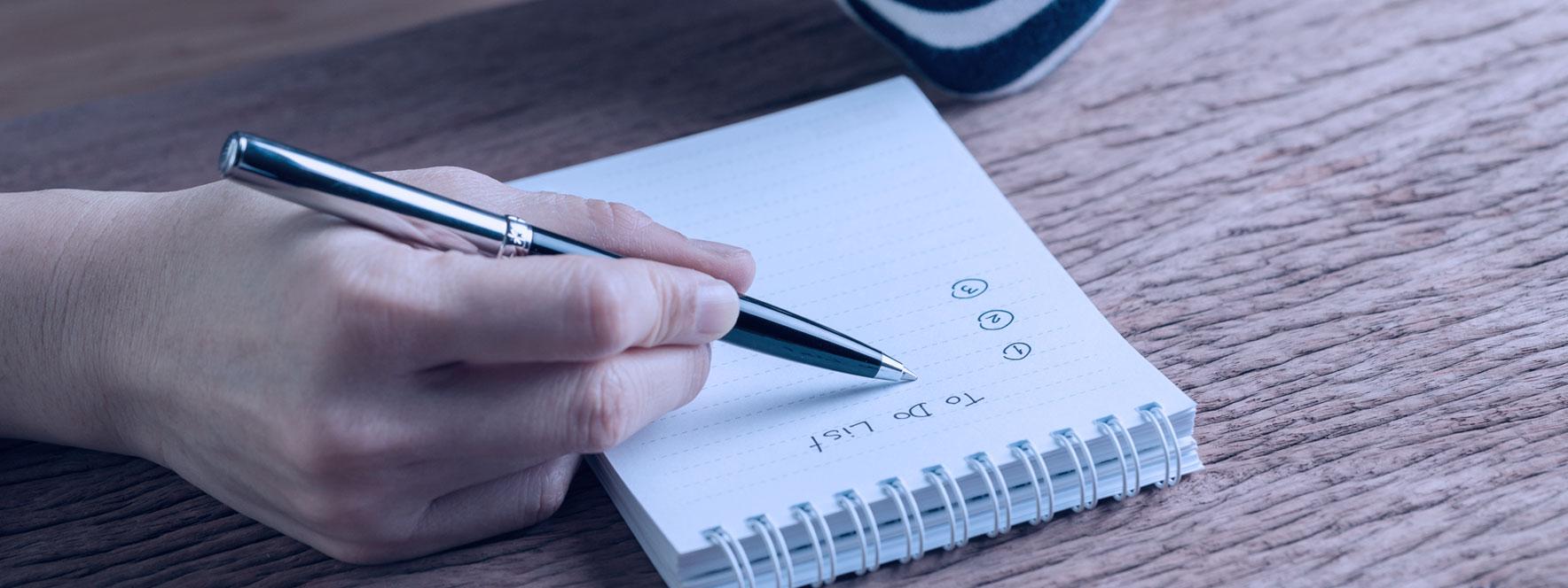 Faites des listes de tâches quotidiennes blogue du Réseau