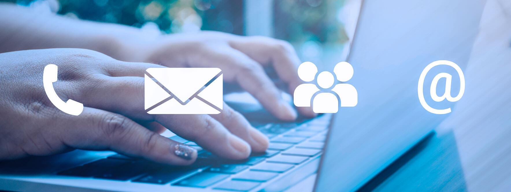 Différents moyens de communication avec la clientèle